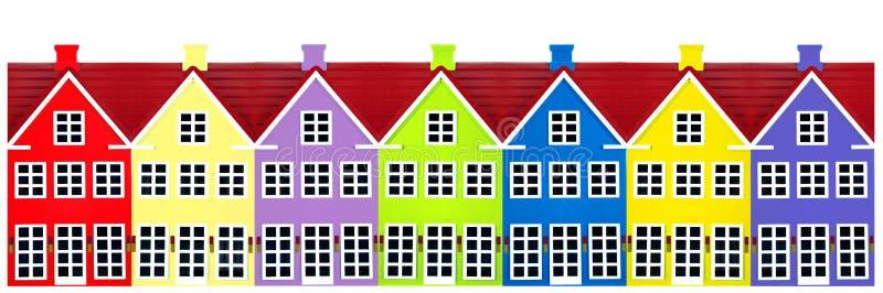 Rij van de Huizen van het Stuk speelgoed stock illustratie