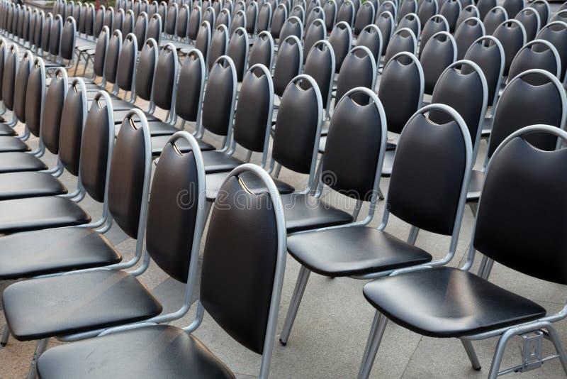 Rij van de stoelen royalty-vrije stock foto's
