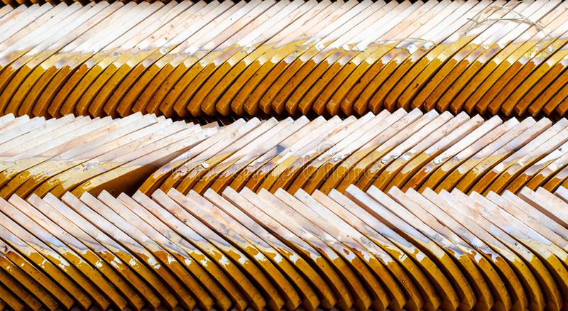 Rij van de Tegels van het Tempeldak royalty-vrije stock afbeeldingen