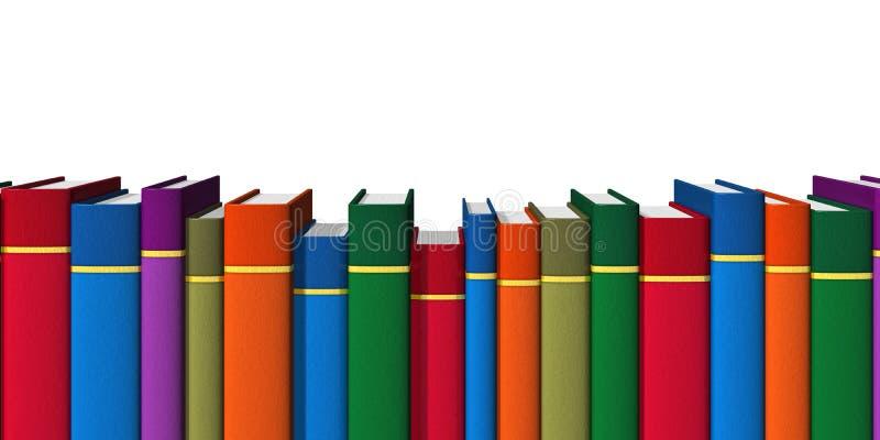 Rij van kleurenboeken royalty-vrije illustratie