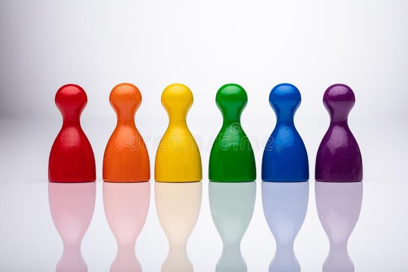 Rij van Kleurrijke Panden stock foto's