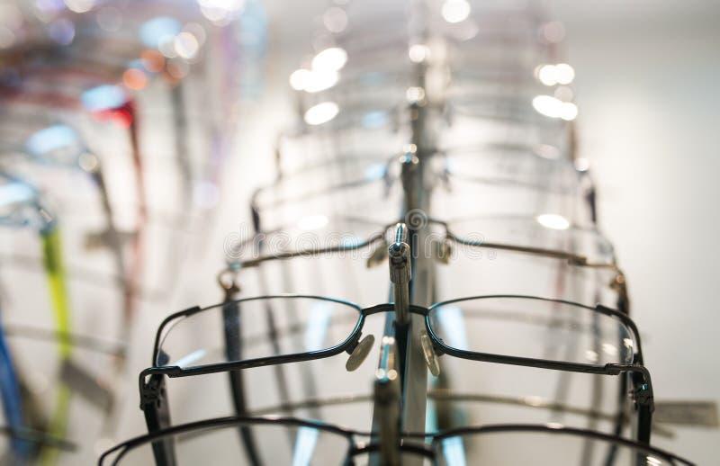 Rij van oogglas royalty-vrije stock afbeelding
