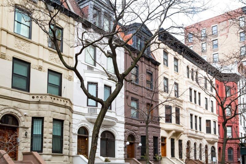Rij van oude gebouwen in de Hogere het Westenkant, de Stad van New York royalty-vrije stock foto