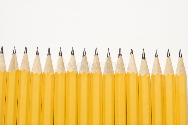 Rij van potloden. royalty-vrije stock afbeeldingen