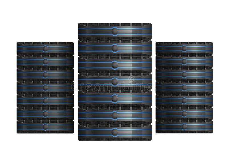 Rij van servers royalty-vrije illustratie