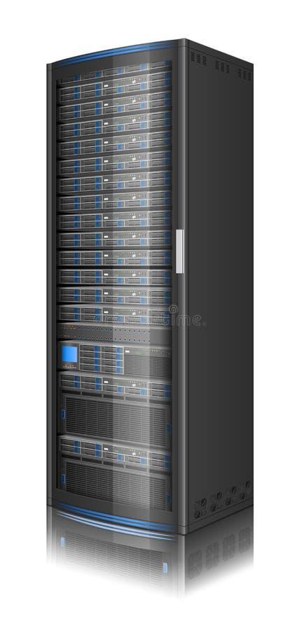 Rij van servers stock illustratie