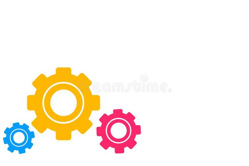 Rijdt Verschillend Met maat Gekleurd Radertje drie Toestel het In dienst nemen, het Met elkaar verbinden, Tessellating Creatief I royalty-vrije illustratie
