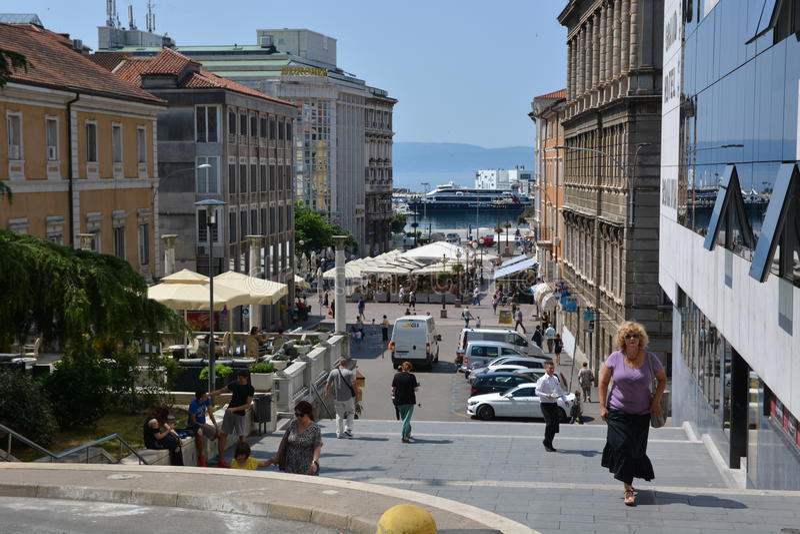 Rijeka in Croatia. Rijeka, Croatia - June 12, 2017 - Rijeka in Croatia royalty free stock images