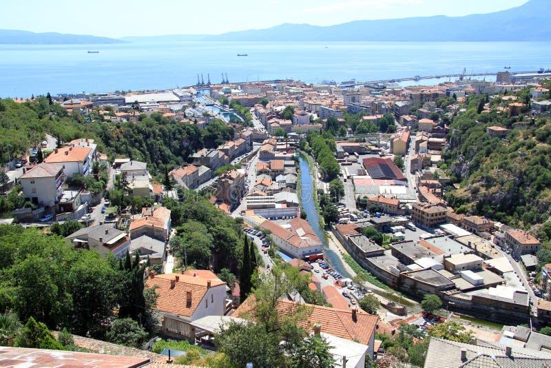 Rijeka i Kroatien royaltyfri bild