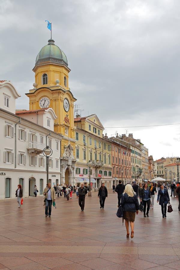 Rijeka Korzo στοκ εικόνες