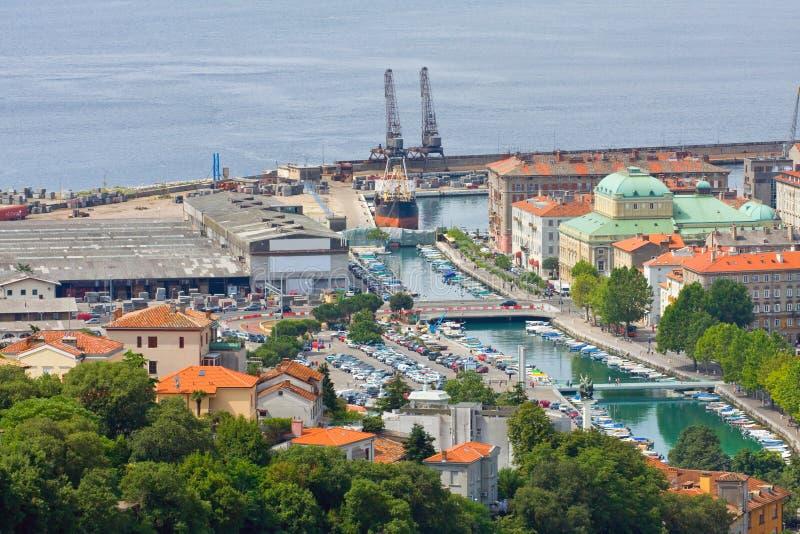 Rijeka Kroatien arkivfoto