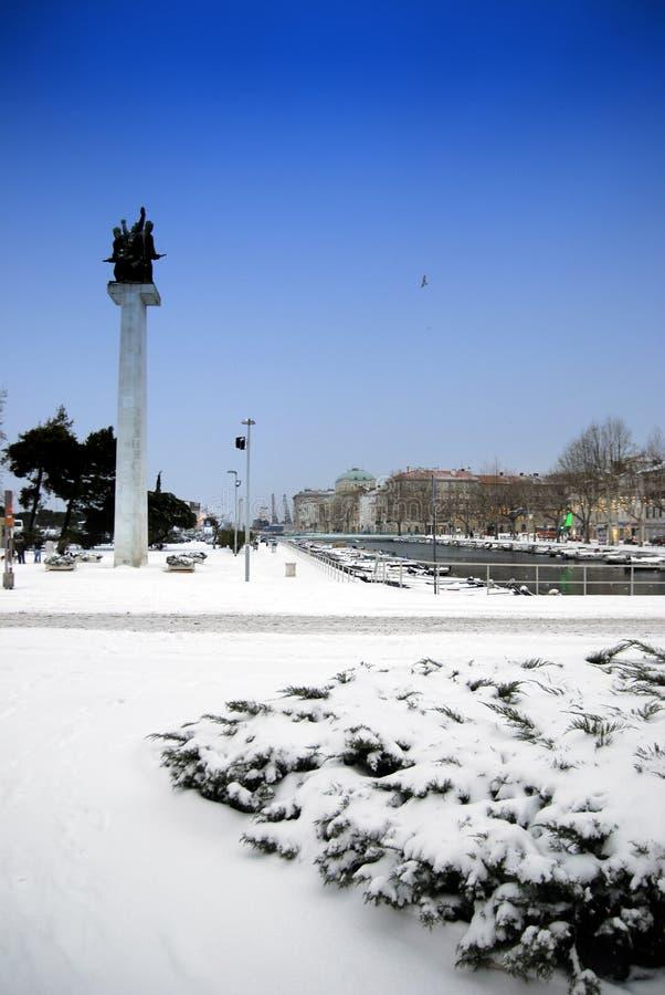 Rijeka nieboszczyka kanał w Chorwacja fotografia royalty free