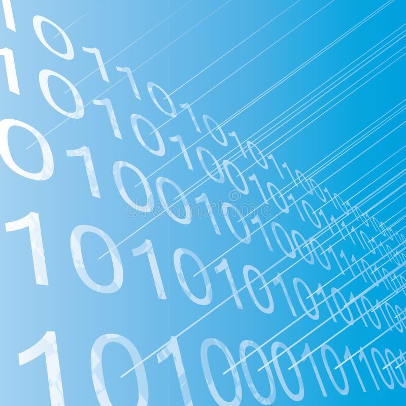 Rijen van binaire cijfers abstracte achtergrond. stock illustratie