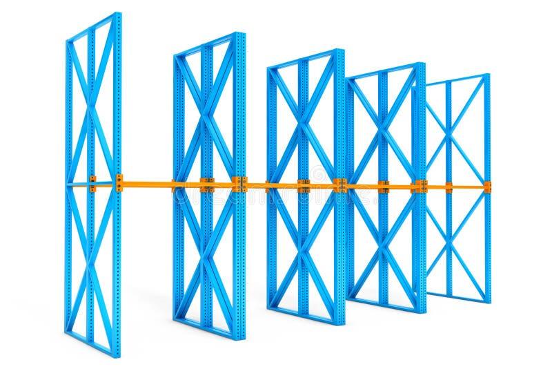 Rijen van lege planken voor dozen stock illustratie