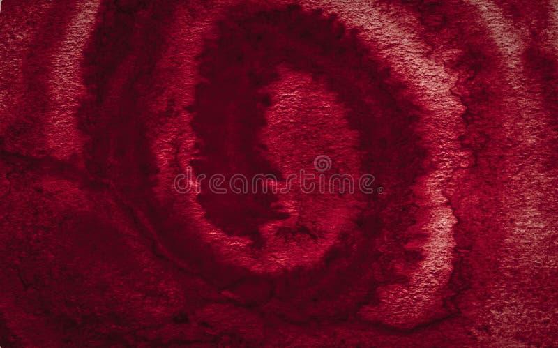 Rijk de waterverfkader van Bourgondië met gescheurde slagen en strepen Abstracte achtergrond voor ontwerp, lay-outs, patronen stock foto's