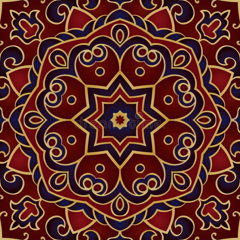 Rijk malplaatje voor sjaal stock illustratie