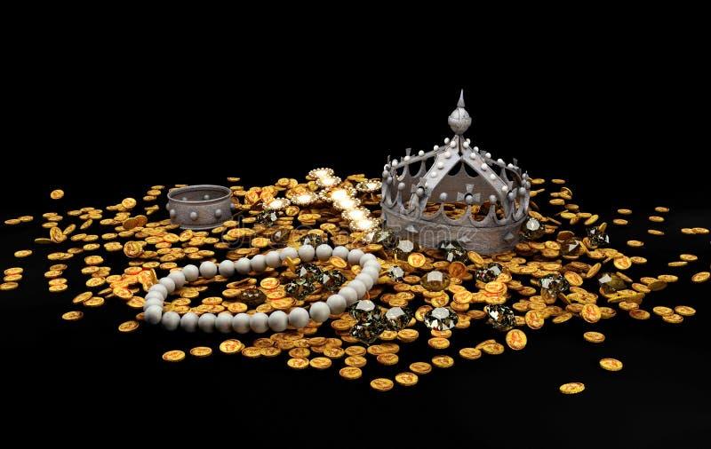 Rijkdom op zwarte achtergrond stock illustratie