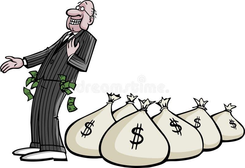 Rijke CEO stock illustratie
