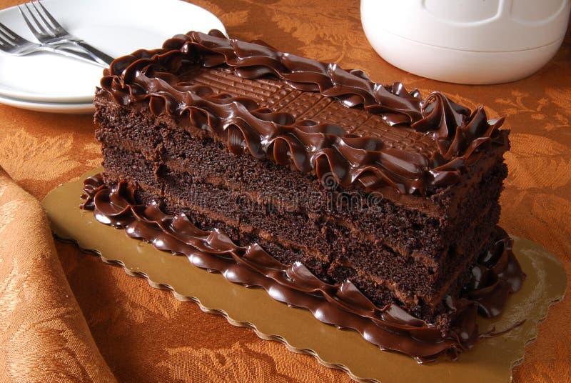 Rijke chocoladecake royalty-vrije stock foto's