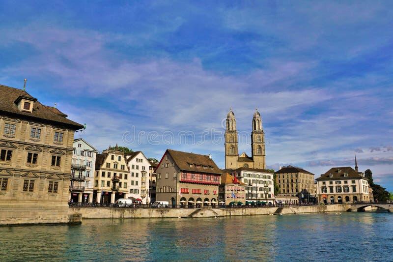 Rijke stad ZÃ ¼ in Zwitserland stock afbeelding
