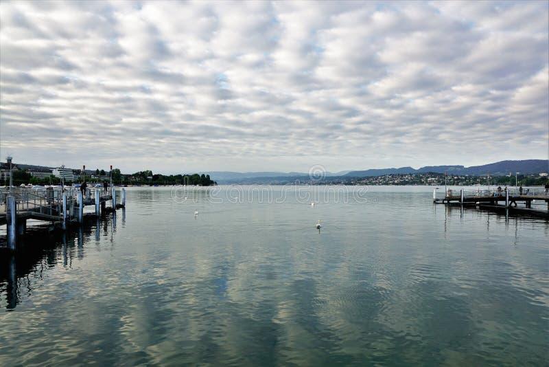 Rijke stad ZÃ ¼ in Zwitserland royalty-vrije stock fotografie