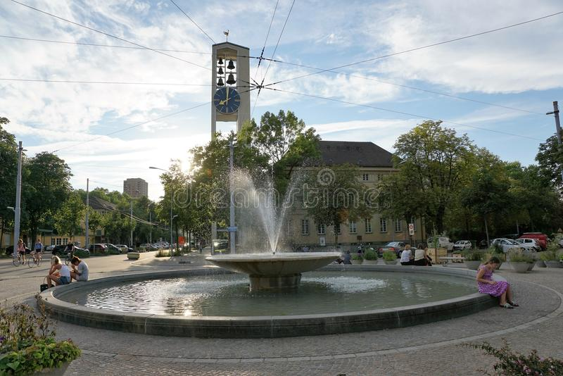 Rijke stad ZÃ ¼ in Zwitserland royalty-vrije stock foto