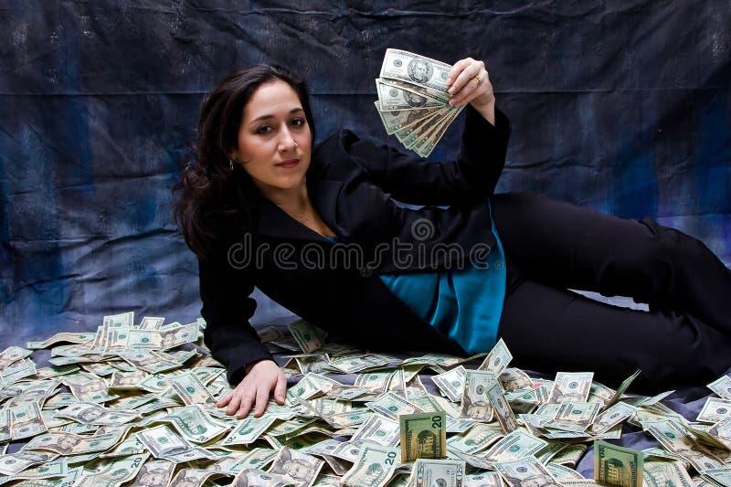 Rijke vrouw royalty-vrije stock foto