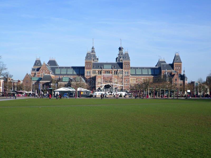 Rijks-Museum in Amsterdam lizenzfreies stockbild