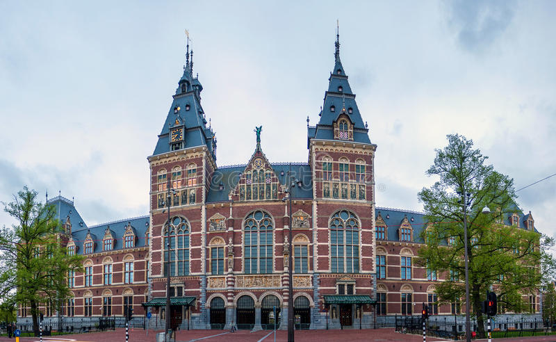 Rijksmuseum à Amsterdam photo stock