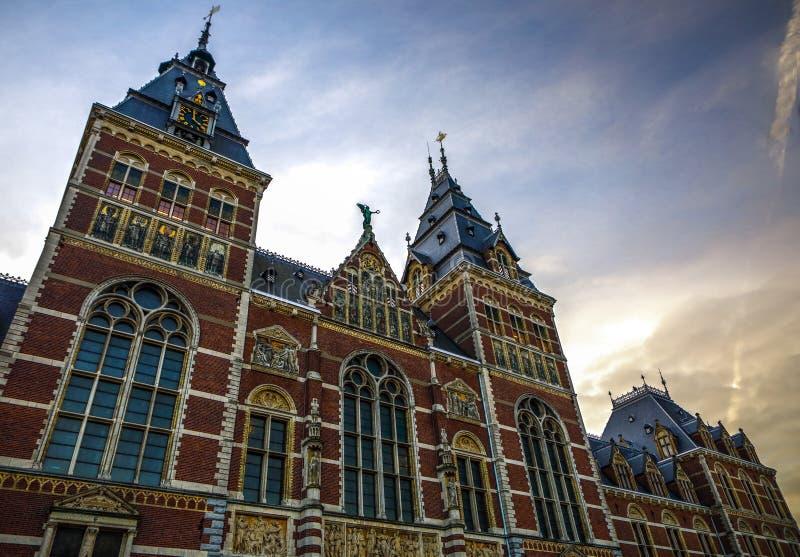 Rijksmuseum -国家博物馆致力艺术和历史 一最普遍的博物馆在欧洲 图库摄影