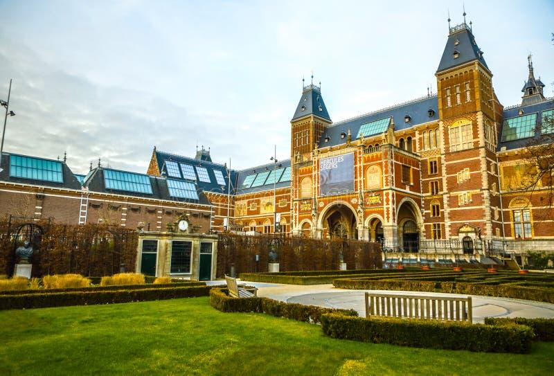 Rijksmuseum -国家博物馆致力艺术和历史 一最普遍的博物馆在欧洲 免版税库存照片