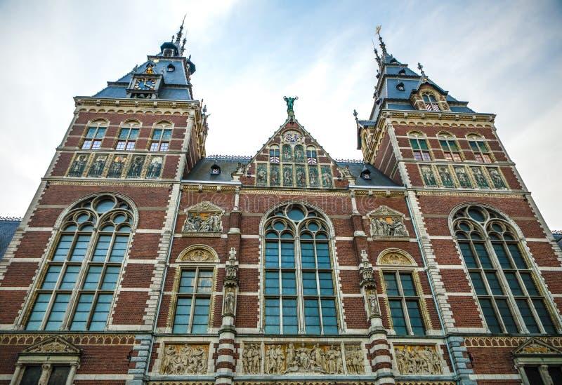 Rijksmuseum -国家博物馆致力艺术和历史 一最普遍的博物馆在欧洲 库存图片