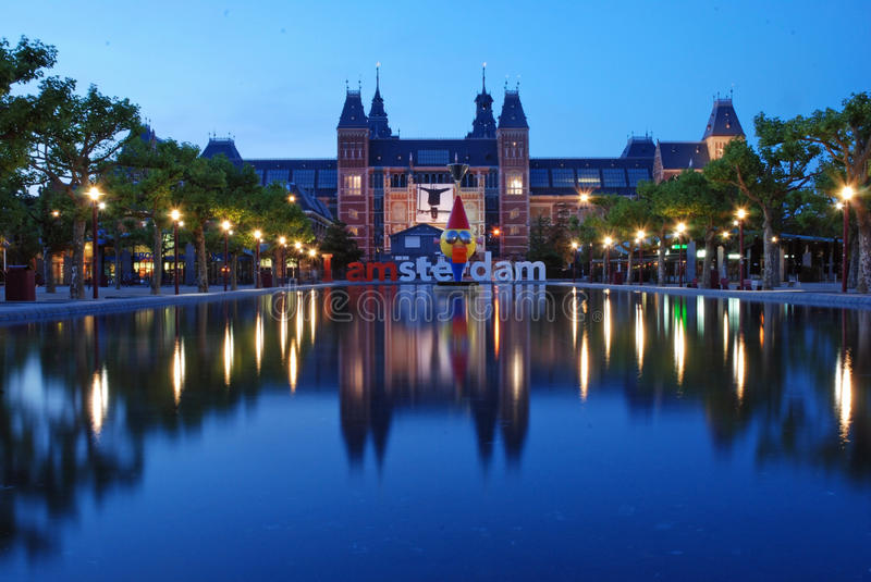Rijksmuseum, Amsterdam royalty free stock photos