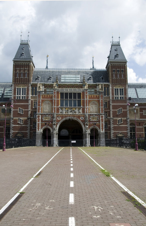 Rijksmuseum amsterdam holland museumplein stock photography