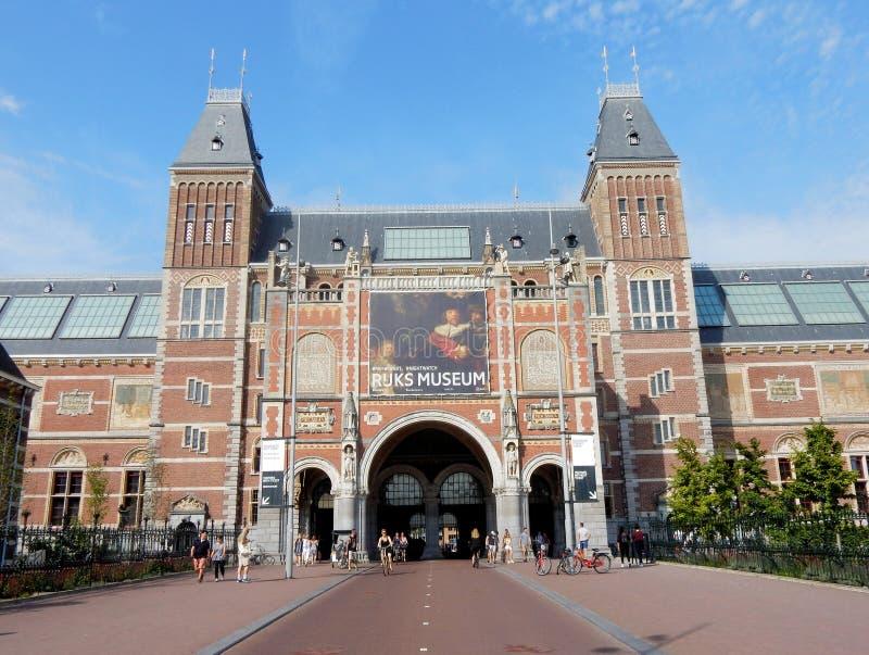 Rijksmuseum Amsterdam, 1885, museo nacional del estado, construyendo con aspecto medieval fotografía de archivo