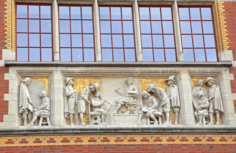 Rijksmuseum in Amsterdam, Netherlands royalty free stock images