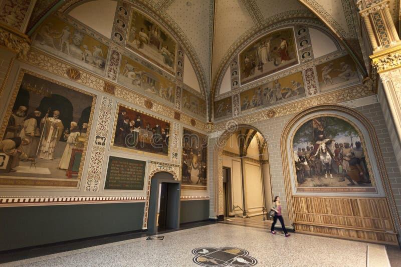 Rijksmuseum Amsterdam - Main exhibition hall stock images