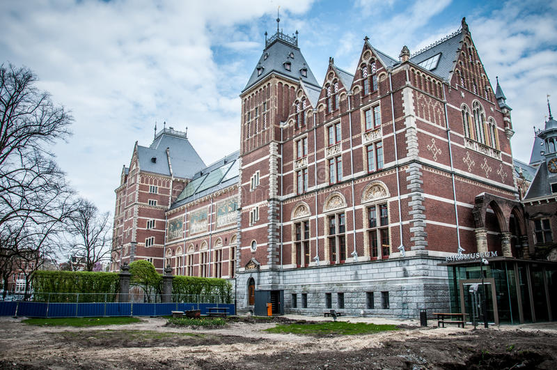 Download Rijksmuseum in Amsterdam stock image. Image of cultural - 32846285