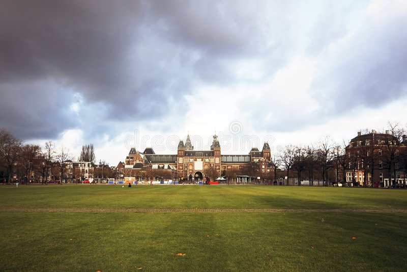 Rijksmuseum em Amsterdão Holland foto de stock