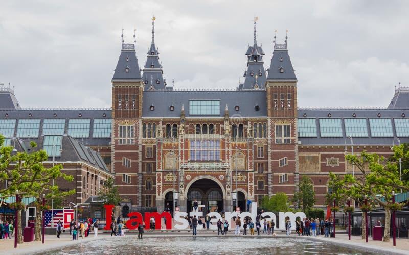 Rijksmuseum I Amsterdam royalty-vrije stock foto's
