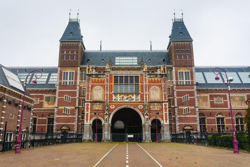 Rijksmuseum strömförsörjningsfasad arkivbilder