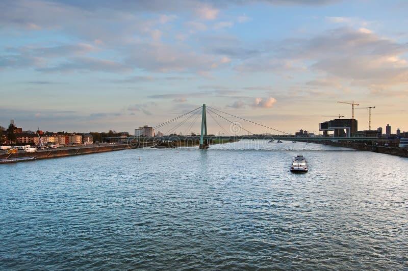 Rijn-rivier stock afbeelding