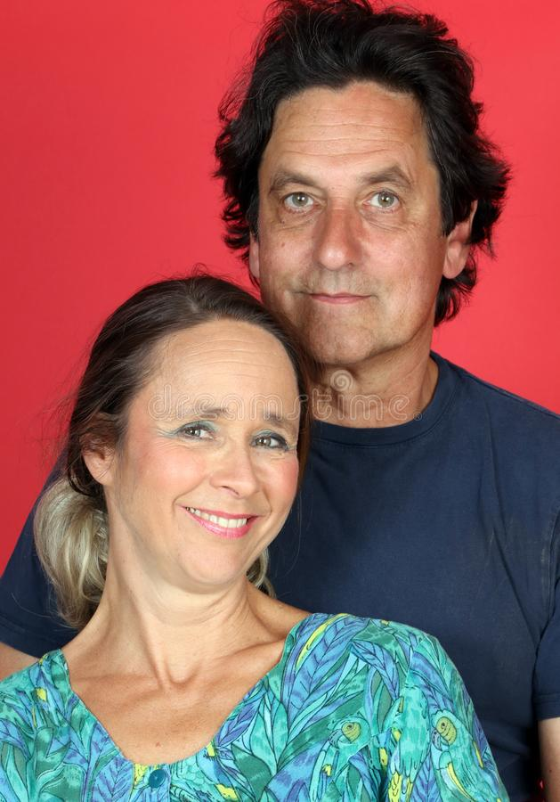 Rijp echtpaar in liefde stock afbeelding