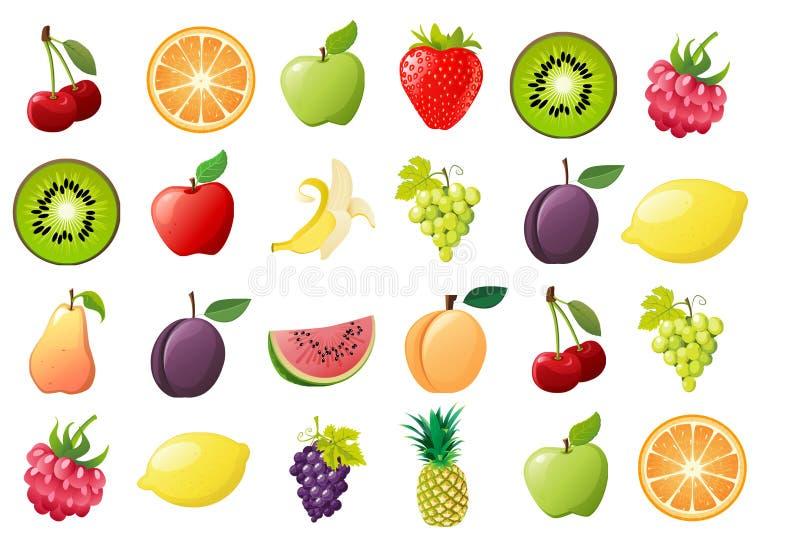 Rijp fruit, illustraties stock afbeelding
