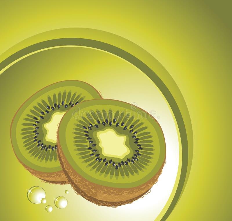 Rijp kiwifruit vector illustratie