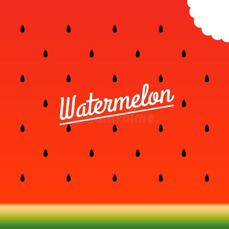 Rijp watermeloen gebeten stukpatroon Vector illustratie royalty-vrije stock afbeeldingen