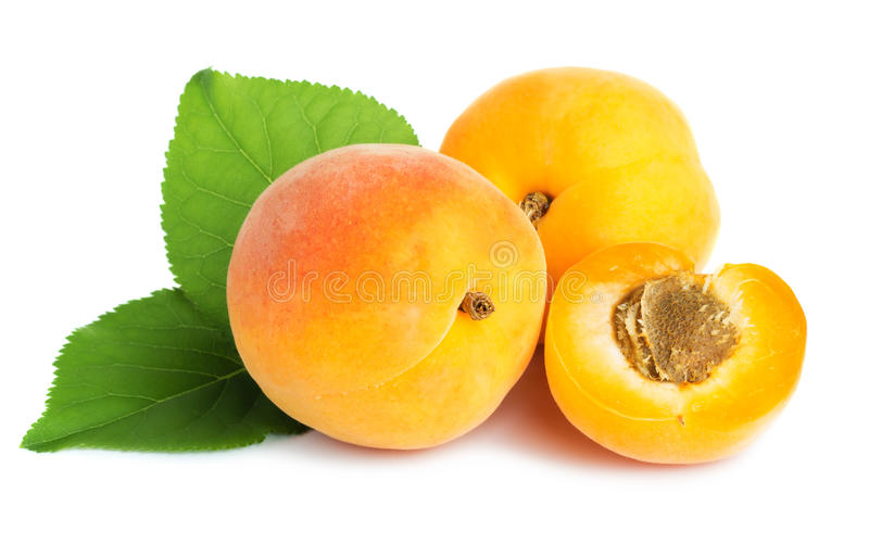 Rijpe abrikozen royalty-vrije stock foto