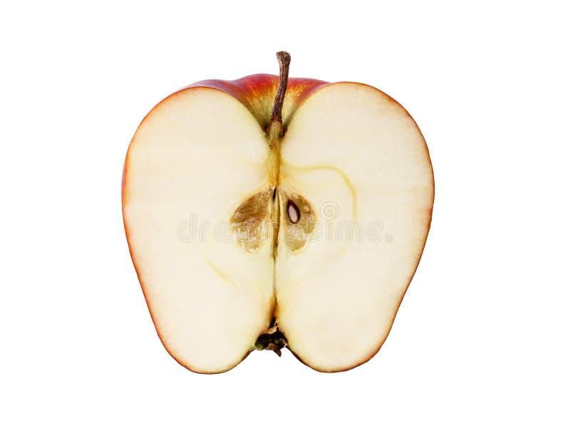 Rijpe appel op witte achtergrond stock afbeeldingen