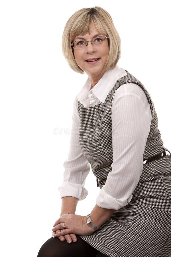 Download Rijpe blondevrouw stock afbeelding. Afbeelding bestaande uit aantrekkelijk - 29512599