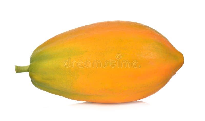 Rijpe die papaja op een witte achtergrond wordt geïsoleerd royalty-vrije stock afbeelding